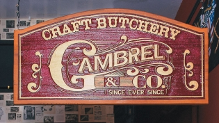 image of the storefront of local butcher Gambrel and Co